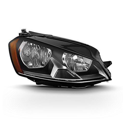 ACANII - For 2015-2017 Volkswagen GTI/Golf MK7 Halogen Model Replacement Headlight Headlamp -Passenger Side Only
