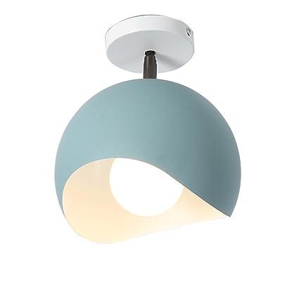 KMYX Moderno Minimalista Color Circular Pequeñas Luces de ...