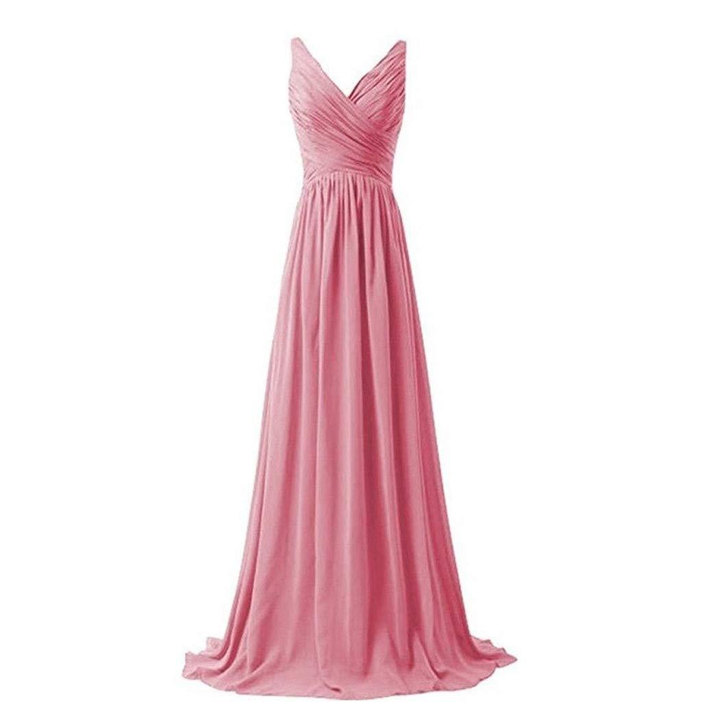 HKD Vestido de Fiesta Noche Elegante Gasa Vestido con Cuello Mujer ...