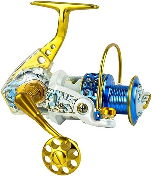 LLJPYX7L Carrete de Pesca con 15 rodamientos, Dorado, Adecuado ...