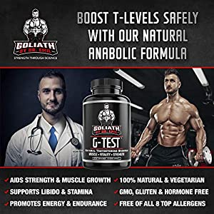 Goliath by Dr. Emil G-Test - Testosterone Booster for Men - Supports Lean Muscle Growth, Energy, Recovery & Libido (90 Veggie Capsules) natural male testosterone booster - 51xZh5KwfZL - natural male testosterone booster