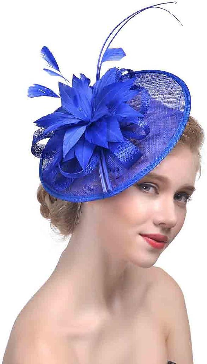 Fascinator Blume Haar Clips Kopfbedeckung Hochzeit Cocktail Party