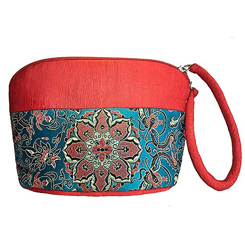 Wristlet Brocade - Yun Brocade Wristlet Wallet Daily Casual Clutch Chinese Embroidery Large Capacity Women Pouch Bag