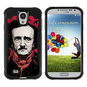 LASTONE PHONE CASE / Suave Silicona Caso Carcasa de Caucho Funda para Samsung Galaxy S4 I9500 / Pink Black Art Actor Writer Comedy