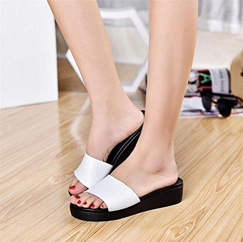 RuiDamen Sandalen im Sommer Hausschuhe Hausschuhe Sommer mit einem Wort von dicken ... 0e936e