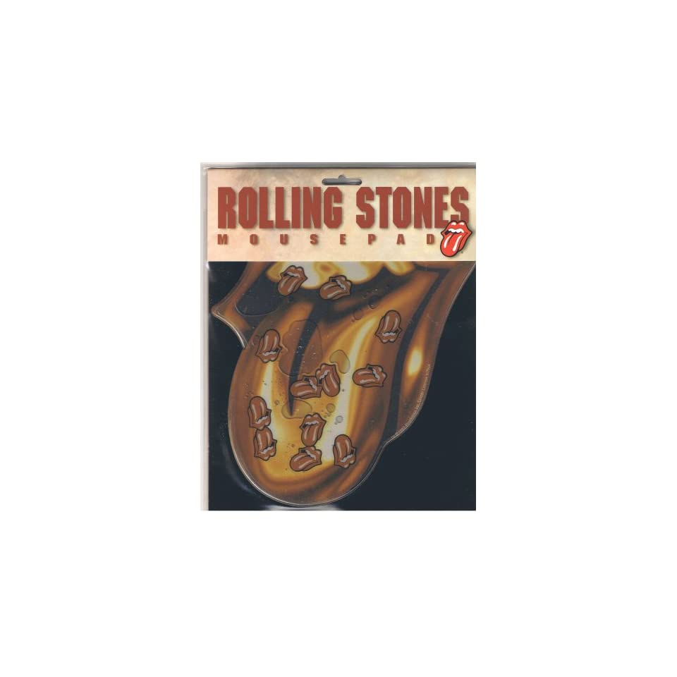 Rolling Stones Gold Tongue Mousepad