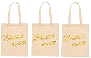 Bridesmaids Bags | Amazon Com Bridesmaid Gift Bags 3 Pack 12 X14 Gold Foil Bridal