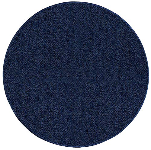 Ambiant Broadway Collection Pet Friendly Indoor Outdoor Area Rugs Navy - 4