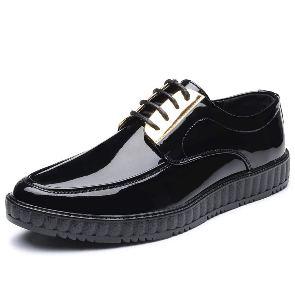 IWGR Herrenmode Oxford Casual Komfortable Klassische Runde Zehe Lackleder Formelle Schuhe Mode Slipper    Creative