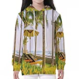 Best Baby Swis - iPrint Baby SweatshirtPullover Hooded,Seaside,Palm Trees Umbrella and Chairs Review