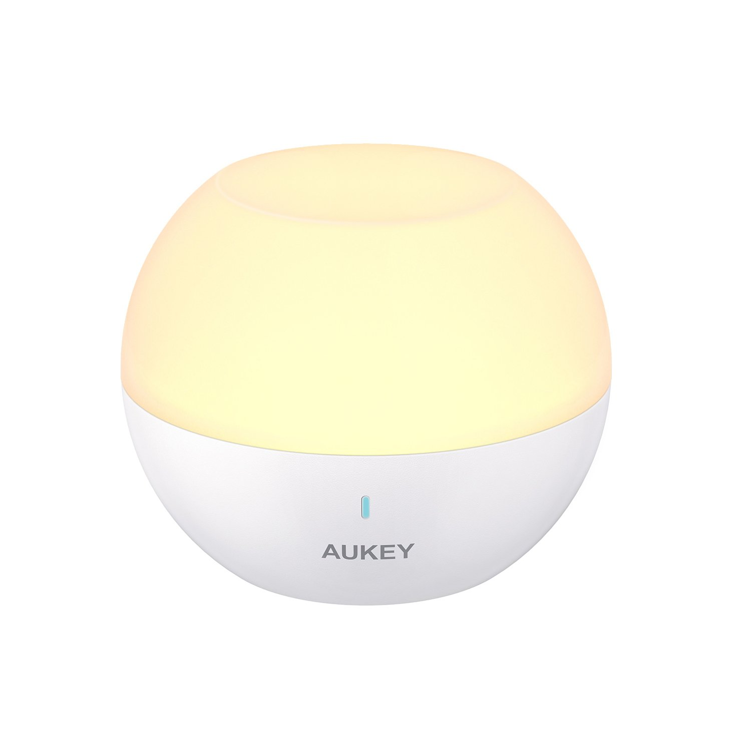 AUKEY Night Light, Rechargeable Bedside Lamp with RGB Color-Changing & Dimmable White Light, IP65 Water-Resistance & Drop-Resistance, Touch Control Table Lamp for Reading, Sleeping, and Relaxing