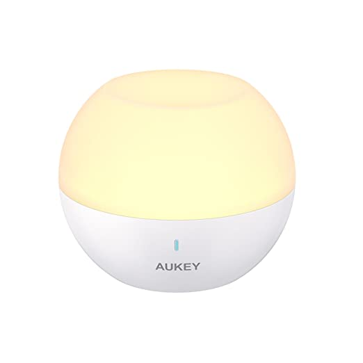 Aukey Night Light, Rechargeable Bedside Lamp With Rgb Color Changing & Dimmable White Light, Ip65 Water Resistance & Drop Resistance, Touch Control Table Lamp For Reading, Sleeping, And Relaxing by Aukey