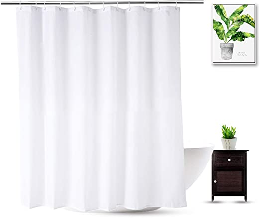 Amazon Com Wellcolor Fabric Shower Curtain Liner 70 X 74 Inch