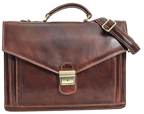 """Gusti Leder studio ''Harper'' borsa ventiquattrore da lavoro per portatile 15,6"""" unisex elegante stilistica marrone 2B34-93-3"""