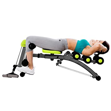 Máquinas de espalda Banco de Pesas Abdominales Abdominales Abdominales Equipo de Fitness Silla de Banco de múltiples Funciones (Color : Black, ...