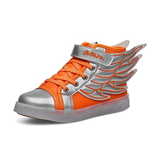 FG21ds21g Kids LED Light Up Sneakers USB Charging Trainers Shoes Flashing Wings Shoes
