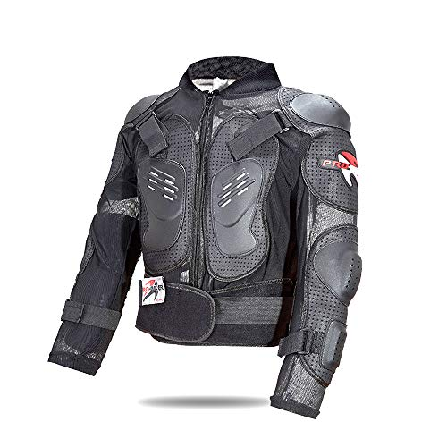 NCBH Motorcyle Protectivejacket,Waterproof Motorbike Motorcycle Scooter Rider Jacket CE Approved Armour for Mens Boys,L