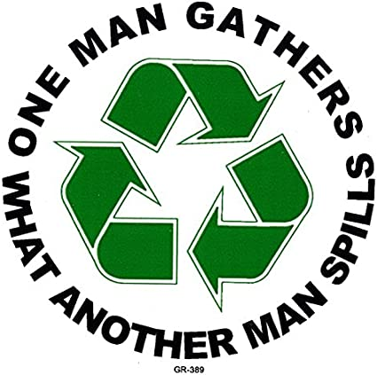 Grateful Dead One Man Gathers Jerry Garcia Recycle Decal Hippie Peace Earth Love