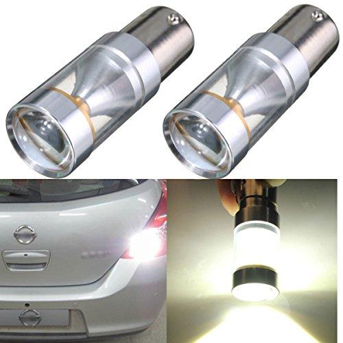 AUDEW 2x Weiß 1156 BA15S XBD LED Auto Leuchten Blinker RücklichtRückfahrscheinwerfer Rücklampen Rückfahrlicht Rückfahrleuchte Standlicht Glühlampe Tagfahrlicht Leuchtmittel DC 12V