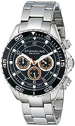 Stuhrling Original Men's 643.01 Aquadiver Swiss Quartz Multifunction Stainless Steel Watch
