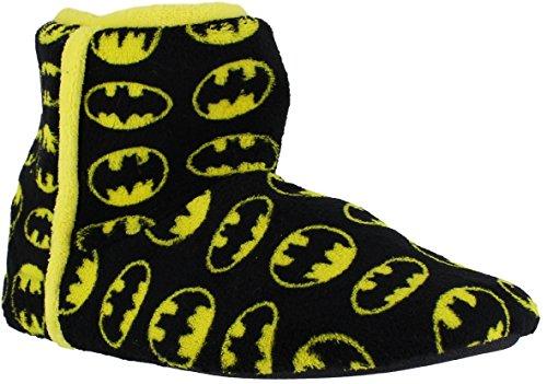 Oficial Caballeros Batman DC Mula Deslizante patucos botines Pantuflas Negro (Trasero)
