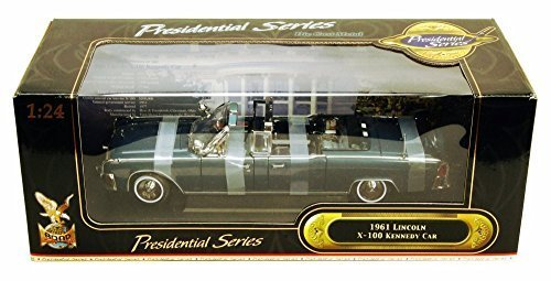 1961 Lincoln X100 Kennedy Limousine, Dark Blue - Road Signature 24048 - 1/24 Scale Diecast Model Toy ()