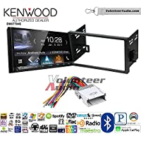 Volunteer Audio Kenwood DMX7704S Double Din Radio Install Kit with Apple CarPlay Android Auto Bluetooth Fits 2007-2011 Chevrolet Aveo
