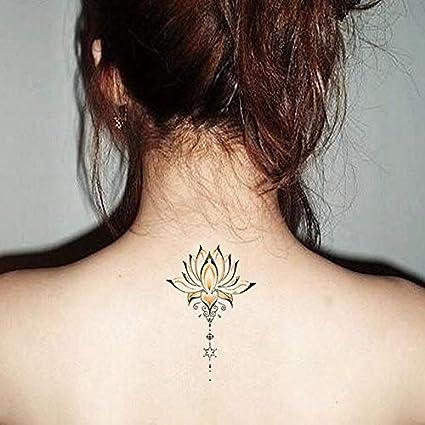 Impermeables Pegatinas De Tatuaje Temporal Lindo Buda Flores De ...
