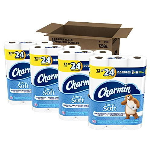 Charmin Toilet Paper On Sale: Charmin Ultra Soft Double Roll Toilet Paper 48 Count