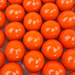 Orange Gumballs - 2 Pound Bags - Large - One Inch in Diameter - About 120 Gumballs Per Bag - Free How To Build a Candy Buffet Guide Included ...