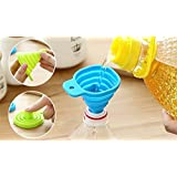 RIANZ Collapsible Silicone Funnel Helpful In Pouring Liquid with Precision (Assorted Colors)