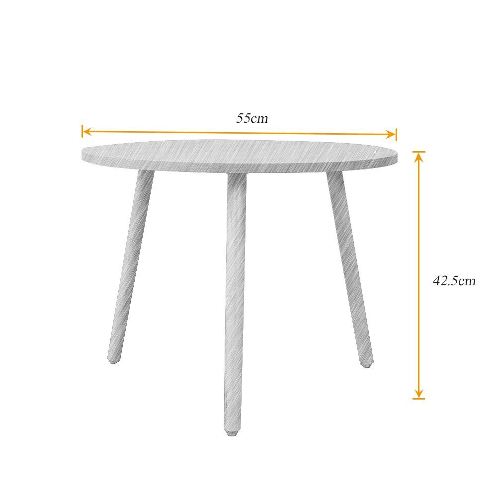 Oak,CJ013-OW soges Tables dappoint Rondes Table /à caf/é Petites Tables dextr/émit/é Tables /à th/é Tables gigognes pour Bureaux /à Domicile