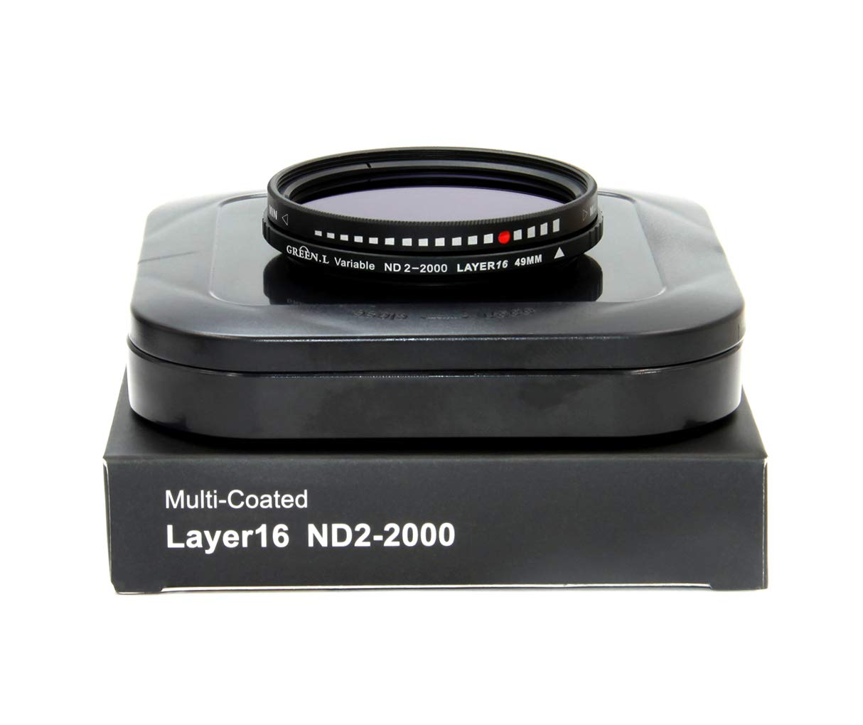 GREEN.L 49mm Variable ND Filter ND2-2000 Neutral Density Filter Nano Coating MRC18-Layer Schott Optics Glass by Green-L