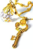 Phantom of silver crystal & space-time key necklace pendant Sailor Moon accessories