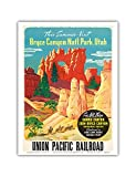 This Summer Visit Bryce Canyon Nat'l. Park Utah - See All Three: Grand Canyon, Zion, Bryce National Parks - Union Pacific Railroad - Vintage World Travel Poster c.1935 - Master Art Print - 9in x 12in