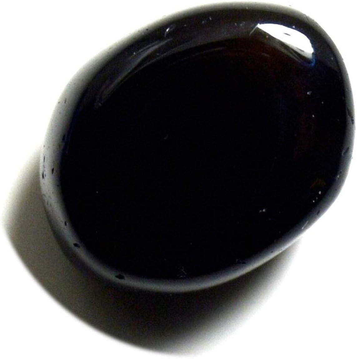 Jewelryonclick Pierre Noire de gu/érison de Forme Ovale de Pierre pr/écieuse donyx Noir de 6 carats pour des Bijoux /à Prix de Gros