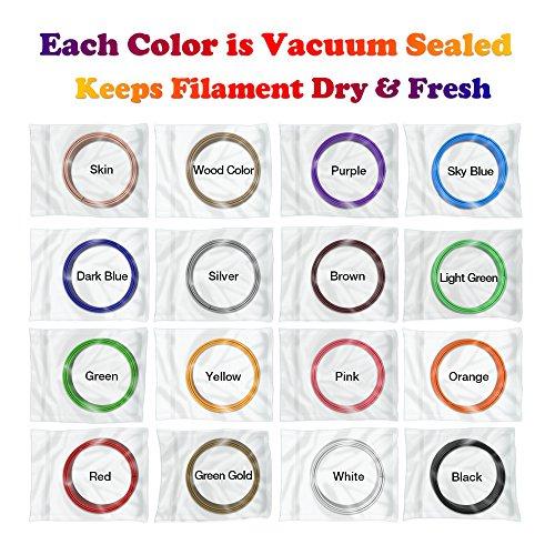 3D Pen Filament Refills PLA 16 Colors 40 Feet 1.75mm with 200 Stencils eBook Total 640 Feet 3D Art Pen Filament for TIPEYE, Canbor, MYNT3D, DigiHero, Zerofire, Dikale, BeTIM 3D Printing Pen and etc by TIPEYE (Image #4)