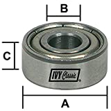 IVY Classic 10962 Chrome Steel Ball Bearings, 3/8-Inch OD x 3/16-Inch ID x 1/8-Inch Thickness, 1/Pouch