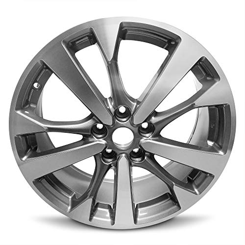 Road Ready Wheels Replacement For 2016-2017 Nissan Altima 18 Inch 5 Lug Black Machine Face Aluminum Rim Fits R18 Tire