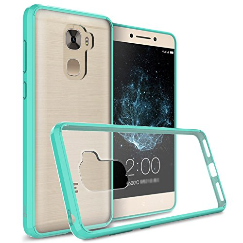 LeEco Le Pro 3 Clear Case, CoverON ClearGuard Series Hard Slim Fit Phone Cover with Clear Back and Flexible TPU Bumpers for LeEco Le Pro 3 - Teal / Clear -