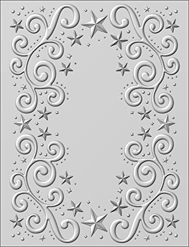 Creative Expressions Embossing Folder Sue Wilson 3D Holly Swirls EF3D-008