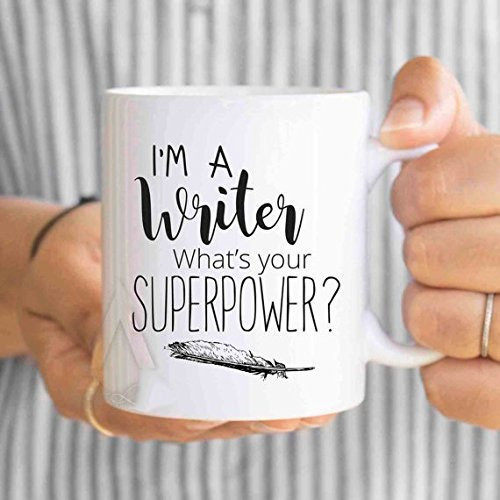 writer gift, writer mug, I\'m a writer, what\'s your superpower? gifts for writers, gifts for authors, writing gifts, unique gifts I' m a writer