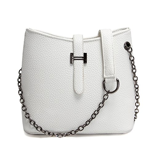 Neue schulter Messenger Bag simple mode Bucket Bag retro casual Schultertasche white Z1IkoBL5g