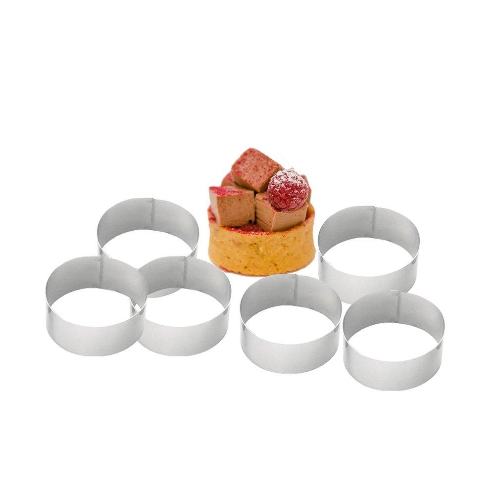 Gobel 60 mm, Edelstahl rostfrei rund Nonnette Ring, 6er-Set