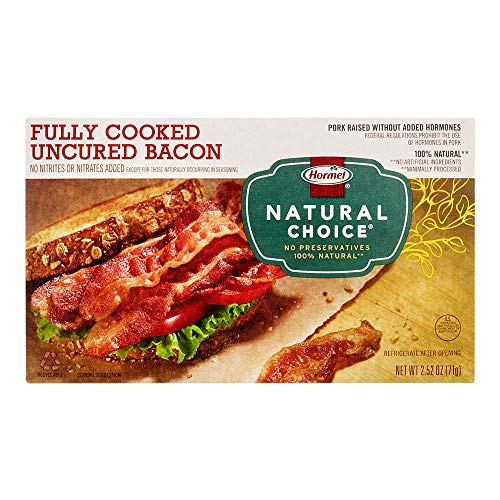 Natural Bacon - Hormel Natural Choice Fully Cooked Uncured Bacon, 2.52 Ounce