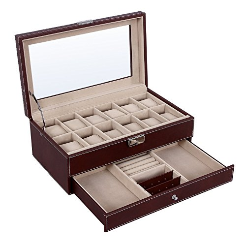 SONGMICS Jewelry Organizer Lockable UJWB012Z