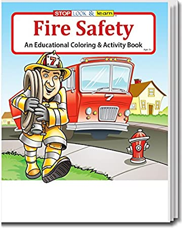 Fire Safety Kids Coloring Activity Book In Bulk