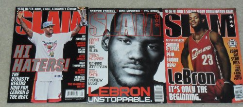 Lot of 3 SLAM Basketball Magazines - LeBron James