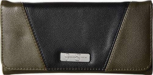 Jessica Simpson Women's Agnes Flap Checkbook Army Green/Black One Size