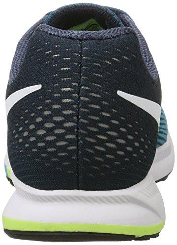 Nike Air Zoom Pegasus 33, Zapatillas de Running Para Hombre Azul (Legion Azule/White/Chlorine Azule)